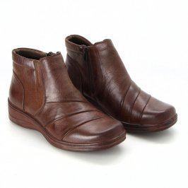Dámská kotníčková obuv hnědá