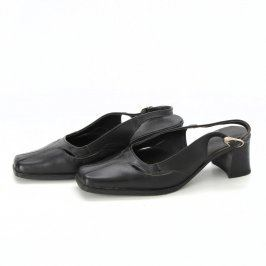 Dámské sandále s uzavřenou špičkou černé