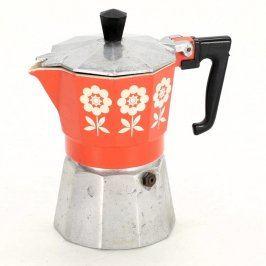 Džezva na kávu s motivem květin