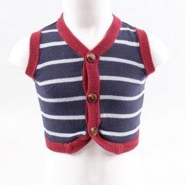 Dětská vesta pruhovaná na knoflíky