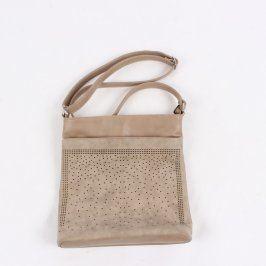 Dámská kožená kabelka béžové barvy