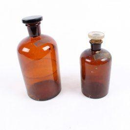 Zábrusové lahve 2 ks hnědé