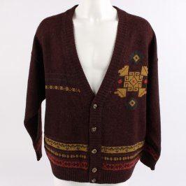 Pánský svetr odstín hnědé s motivy