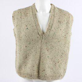 Pánská pletená vesta odstín béžové