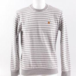 Pánský svetr Dynamic bílo šedý pruhovaný
