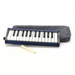 Foukací piáno pro děti modré barvy