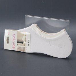 Dámské ponožky Softsail bílé 3 páry