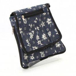 Dámská taška květovaná přes rameno