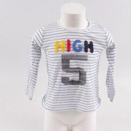 Dětské tričko Pepco bílé s proužky