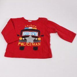 Dětské tričko červené s nápisem Policeman