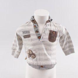 Chlapecké tričko Next šedo hnědé s autíčkem