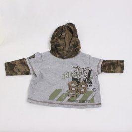 Dětské tričko Disney šedé s kapucí