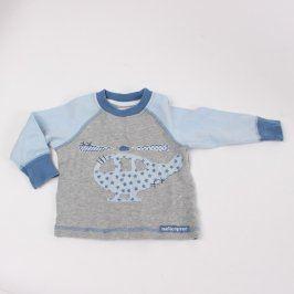Dětské tričko Next šedo modré s helikoptérou