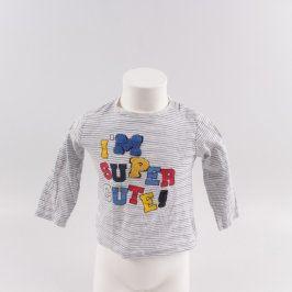 Dětské tričko šedé s nápisem I am super cute