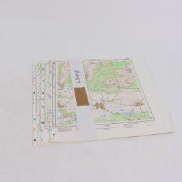 Soubor tajných map oblasti Louny