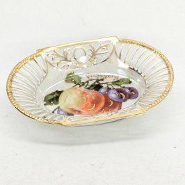 Porcelánová miska namalovaným ovocem