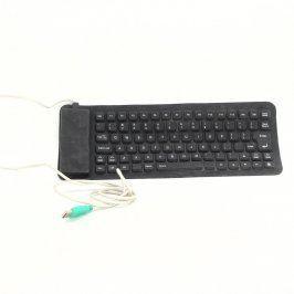 Ohebná silikonová klávesnice černá