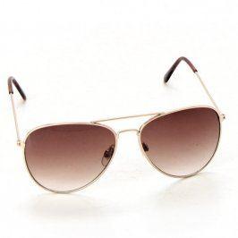 Sluneční brýle Polaroid se zlatými obroučkam