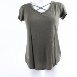 Dámské triko Amisu olivově zelené