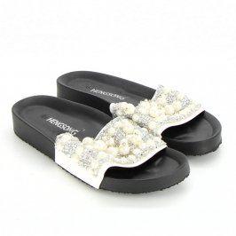Dámské pantofle Hengsong černostříbrné