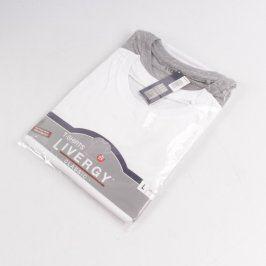 Pánské tričko Livergy bílé a šedé