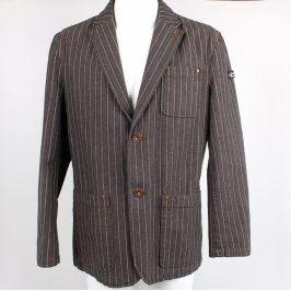 Pánské sako s.Oliver šedé s proužky