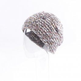 Dámská čepice šedé barvy s melírováním