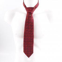Pánská kravata Hedva červená s květinami