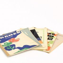 Notové zápisy 6 ks různých druhů