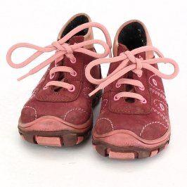 Dětské kotníkové boty červeno-růžové barvy