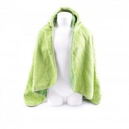 Dětské pončo odstín zelené s kapucí