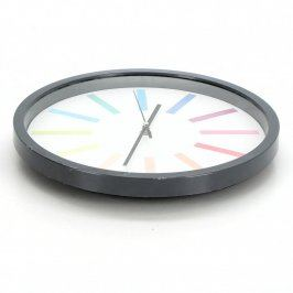 Nástěnné hodiny s barevnými proužky