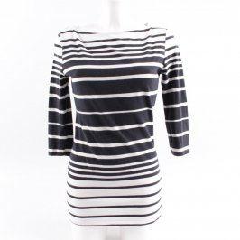 Dámské tričko F&F černo bílé pruhované
