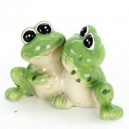 Keramická dekorace dvou žabek