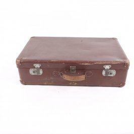 Cestovní kufr hnědý 64x38x18 cm