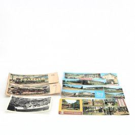 Sbírka pohlednic 6 ks cestování a doprava