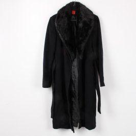 Dámský kabát JDY černý na zavazování