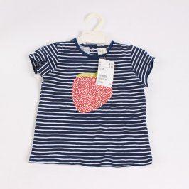 Dívčí tričko H&M modro bílé s jahodou