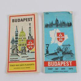 Mapa města Budapešť - 2 kusy