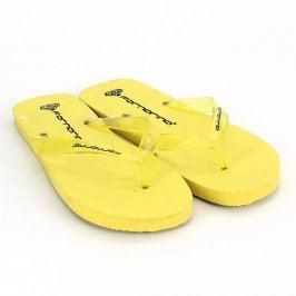 Dámské pěnové žabky Fornarina žluté