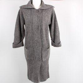 Dlouhý dámský svetr Orsay šedý