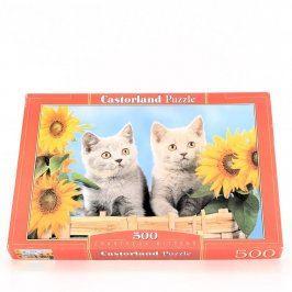 Puzzle Castorland s motivem koček