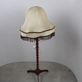 Stojací lampa s textilním stínidlem
