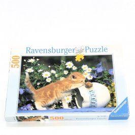 Puzzle Ravensburger kočka s hlemýžděm