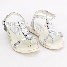 Dětské sandále Miss Sixty stříbrné s kamínky