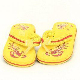 Dětské žabky Fashy žluté barvy