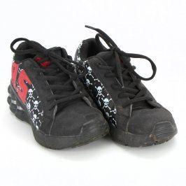 Koloboty RS černé barvy s lebkami