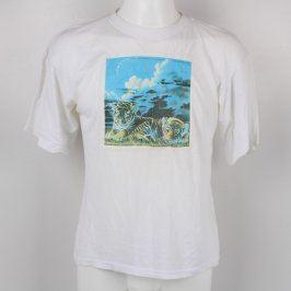 Pánské tričko Blossom bílé s potiskem