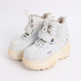 Dámská obuv na vysoké podrážce Buffalo bílá