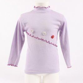 Dětské tričko Partner fialové s kytičkami